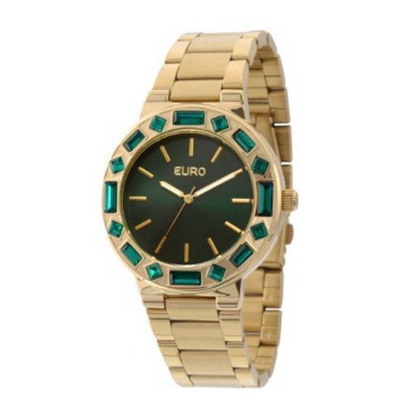 Relógio Euro Feminino Dourado Com Pedras EU2035XZB/4V - ASP-RLG-1020