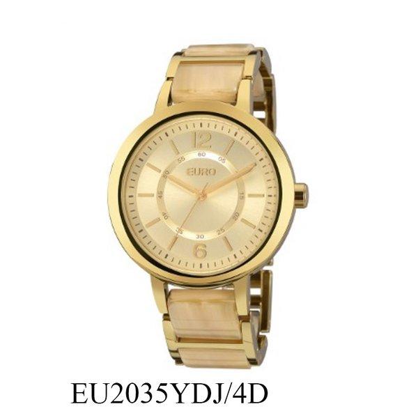 RLG-4018 - Relógio Feminino Analógico Euro Acetato Bicolor EU2035YDJ/4D - Bege