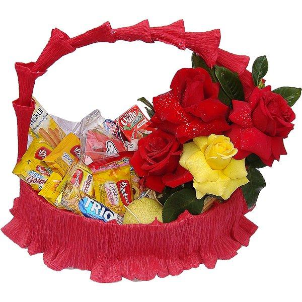 Cesta Especial Com Flores