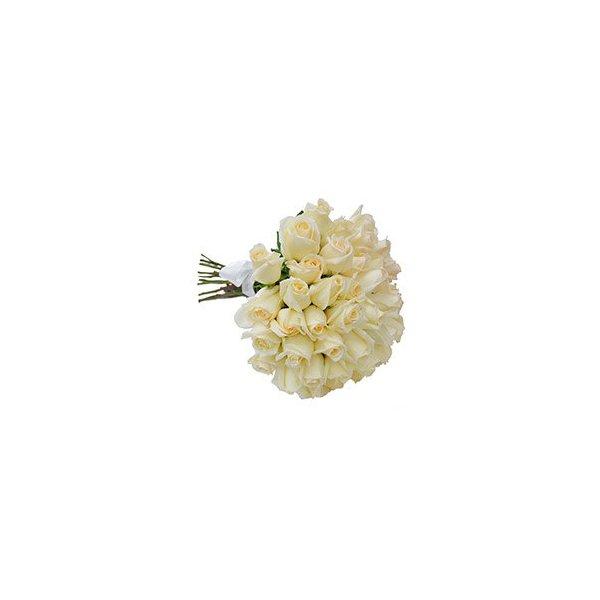 Buque de Rosas Brancas 15 Unidades