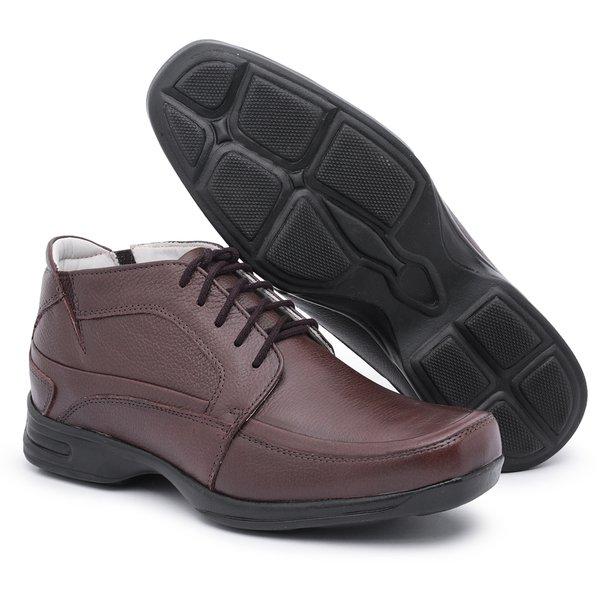 Sapato Social Masculino Anti-stress Marrom