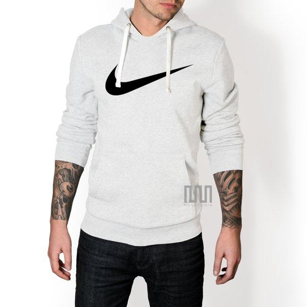 Blusa Moleton Nike Espada C/ Capuz Casaco De Frio Branco