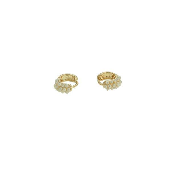 Brinco Argola Perola Lesprit U15K070221 Dourado