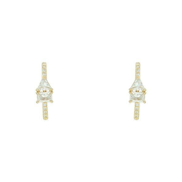 Brinco Ear Hook Zircônia Lesprit LB19131WGL Dourado Cristal