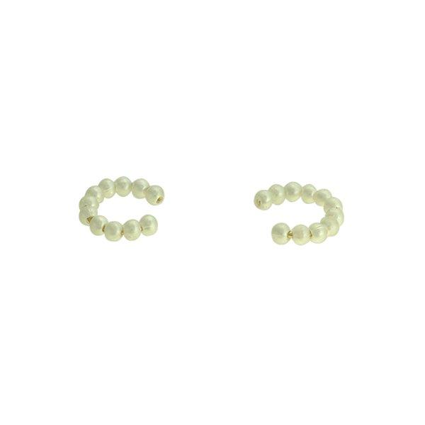 Brinco Piercing de Pressão Pérola Lesprit 37503P/03 Dourado