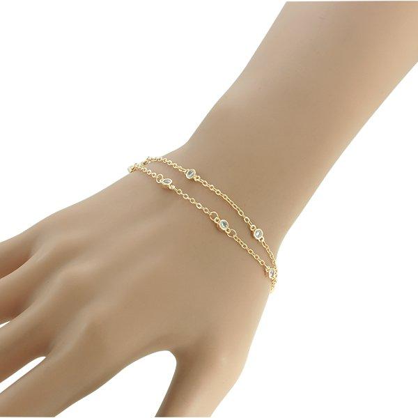 Pulseira Zircônia Lesprit U18A060091 Dourado Cristal