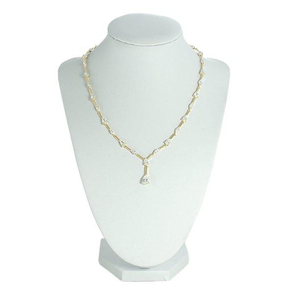 Colar Zircônia Lesprit LC02341WGL Dourado Cristal