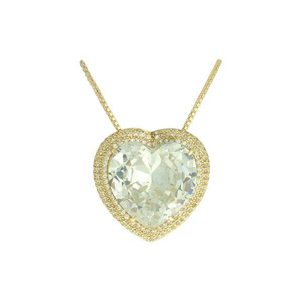 Colar Zircônia Lesprit LC02731WGL Dourado Cristal