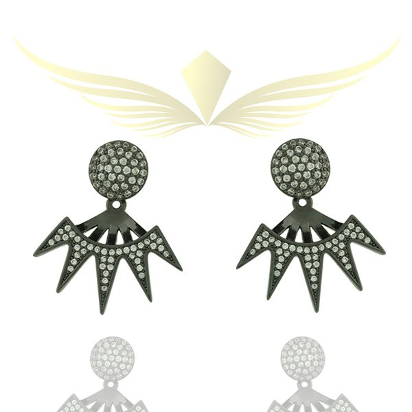EAR JACKET DE ZIRCONIA LE30951 WBK