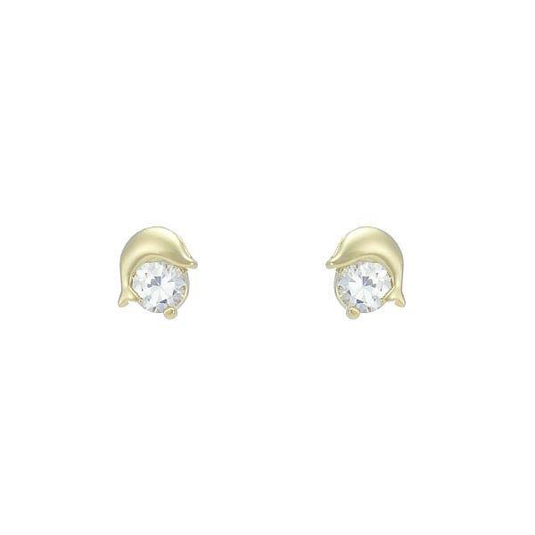 Brinco Zircônia Lesprit 65017 Dourado Cristal