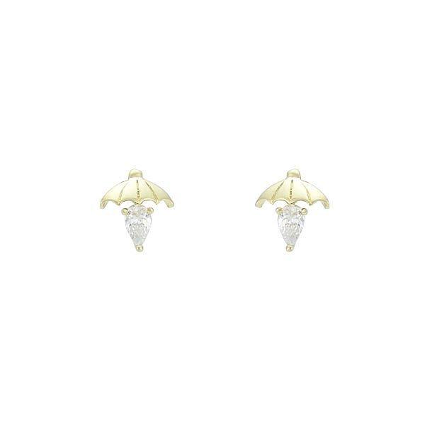 Brinco Zircônia Lesprit 65012 Dourado Cristal