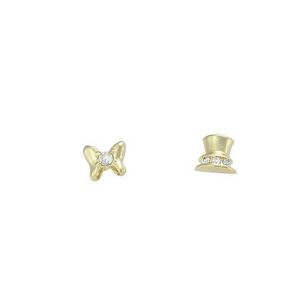 Brinco Zircônia Lesprit 65001 Dourado Cristal