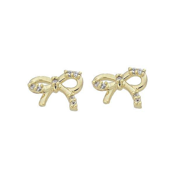Brinco Zircônia Lesprit 65049 Dourado Cristal