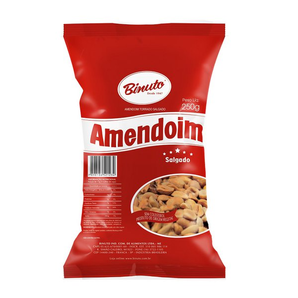 Amendoim Torrado e Salgado - 250g