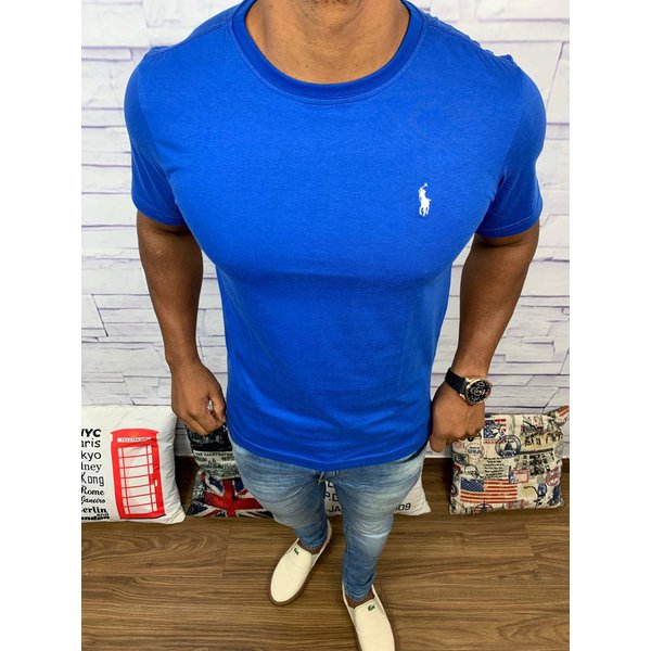Camiseta Ralph Lauren - azul bic