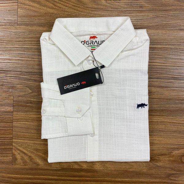Camisa Manga Longa - DGraud Creme Plus Size