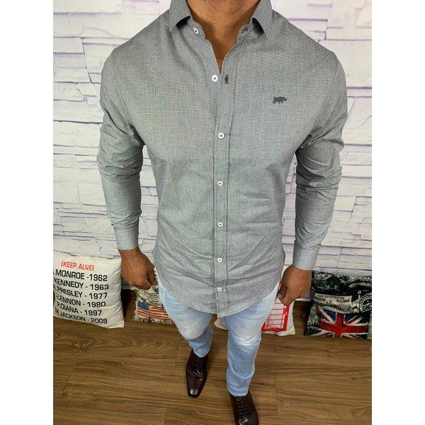 Camisa Social Dgraud - Manga Longa Cinza