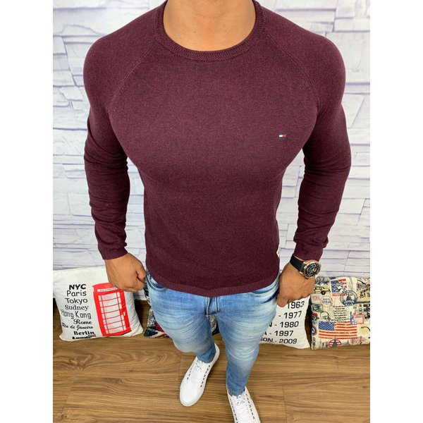 Sueter Tommy Hilfiger - Roxo