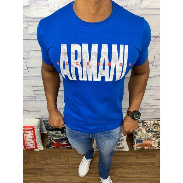Camiseta Armani - Azul Bic