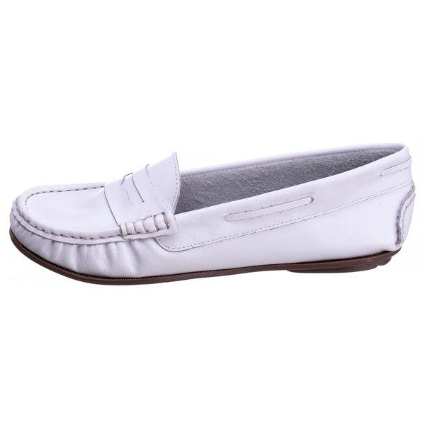 Sapato Mocassim Couro Legítimo Sola TR Branco