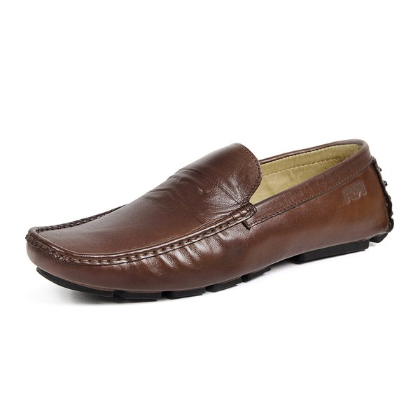 Mocassim Drive Masculino Couro Legítimo Soft Leather Exclusive Reverso - 1800 - Conhaque