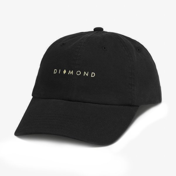 DAD HAT DIAMOND MARQUISE BLACK