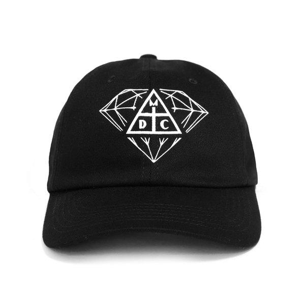 DAD HAT DIAMOND X DAMASSACLAN BLACK