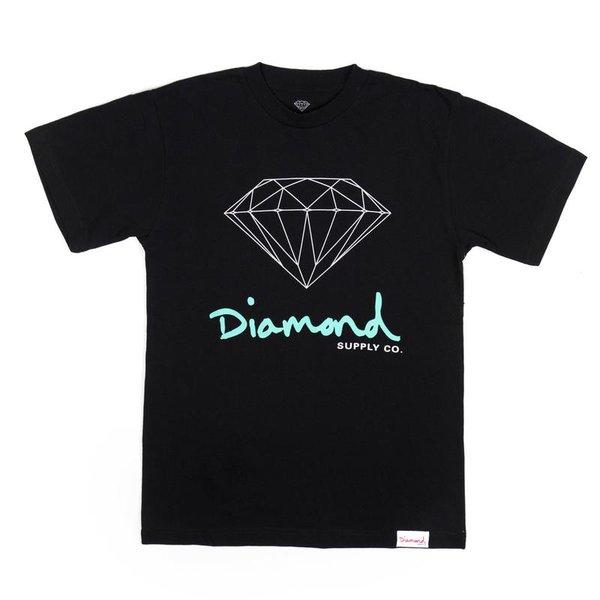 CAMISETA DIAMOND OG SIGN BLACK