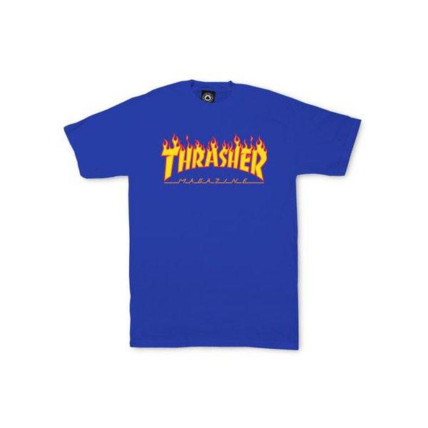 CAMISETA THRASHER FLAME LOGO BLUE
