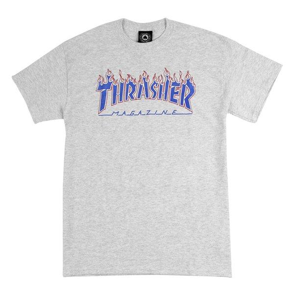Camiseta Thrasher Patriot Branco Mescla