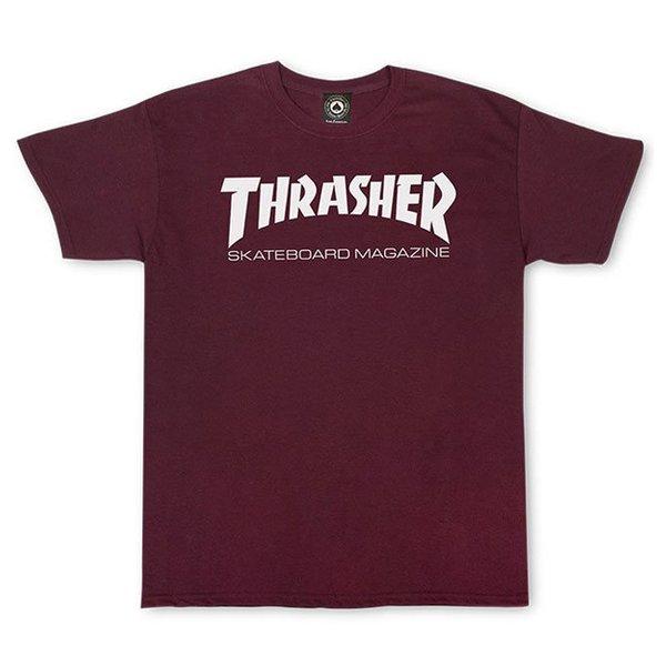 Camiseta Thrasher Skate Mag Bordô