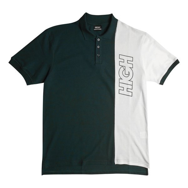CAMISA POLO HIGH STRIPE OUTLINE LOGO GREEN/WHITE - DROP 1