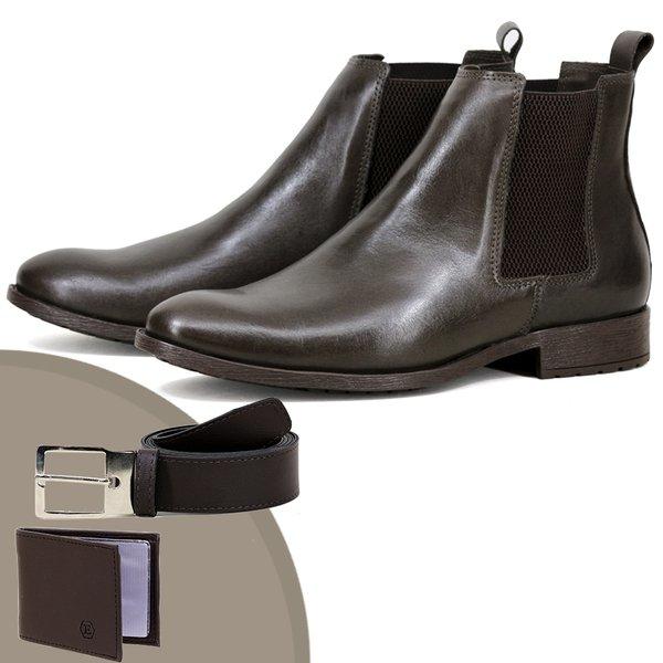 Chelsea Boots Social ESCRETE Liso Lançamento 771 Napa Café
