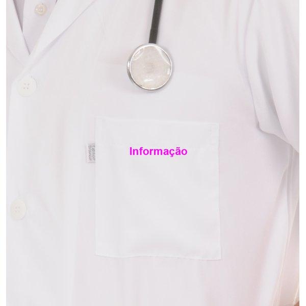 informação bordado pink -Bolso