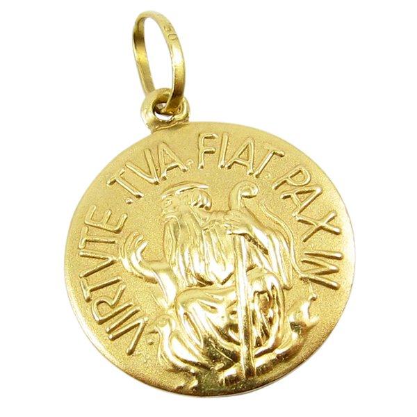 Pingente de Ouro 18K São Bento 2,2 centímetros