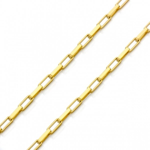 Corrente De Ouro 18k Bandeirante De 4,2mm Com 70cm