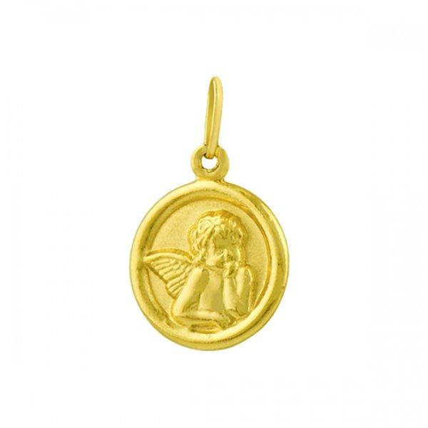 Pingente De Ouro 18k Anjinho