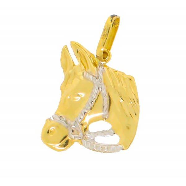 Pingente em Ouro 18k Cavalo de 19mm