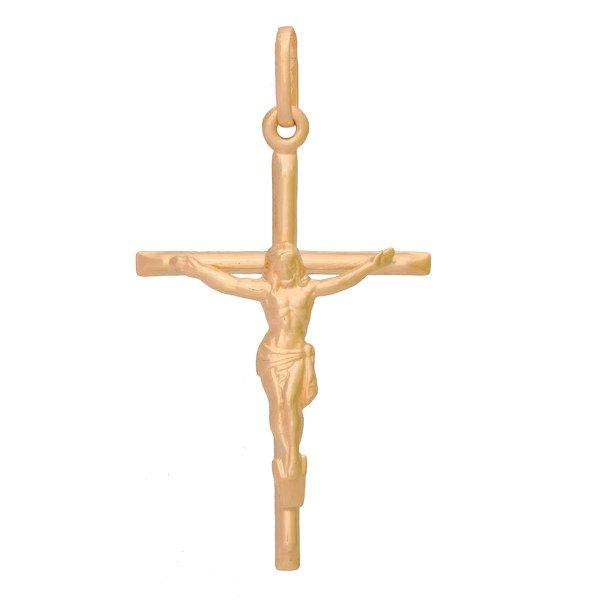 Pingente De Ouro 18k Crucifixo Com 44mm