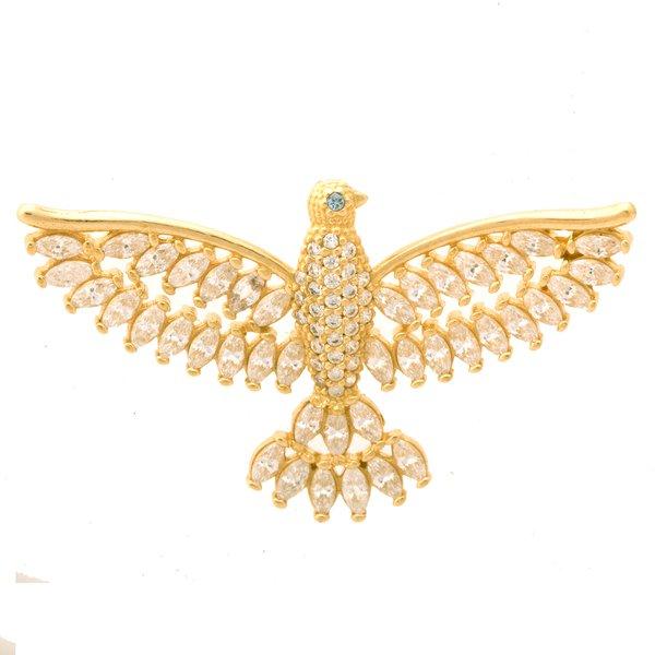 Pingente em Ouro 18K Espírito Santo com zircônias