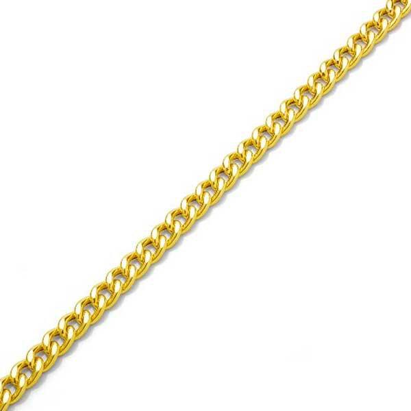 Pulseira de Ouro 18K Groumet de 7,5mm com 15cm