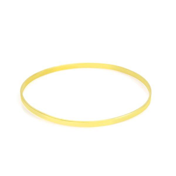 Bracelete em Ouro 18K Laminado de 2,6mm com 6,5cm