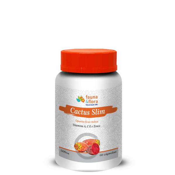 Cactus Slim Diurético com Vitaminas A, C, E e Zinco 500mg 60caps