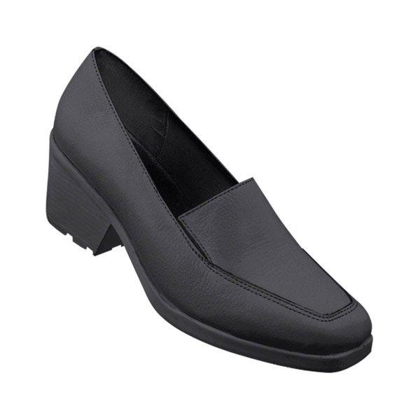 Sapato de Seguranca Preto Feminino Com Salto Sem Biqueira Bracol CA26464