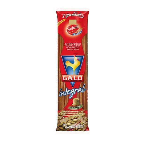 Macarrão Galo Integral Espaguete 500g