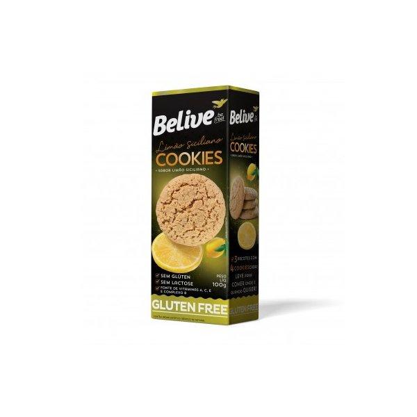 Cookies sabor limão siciliano sem glúten sem lactose Belive 100g