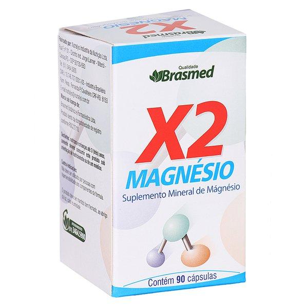 X2 Magnésio Brasmed 90 cápsulas