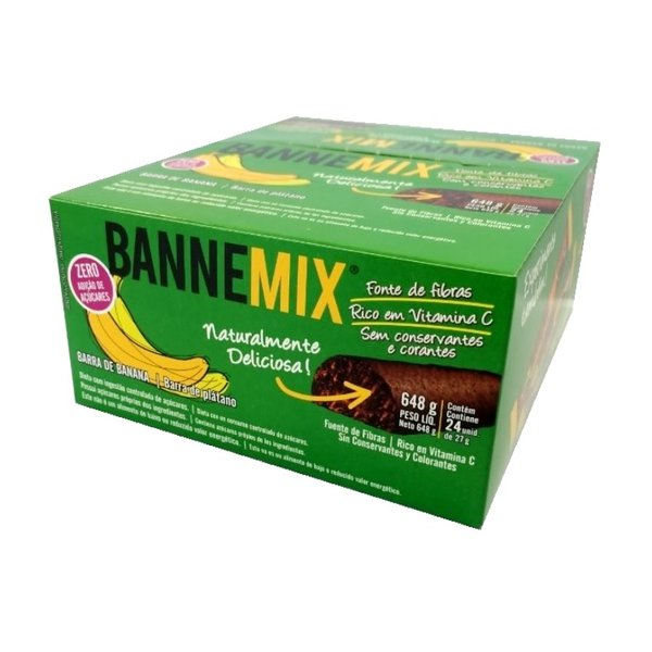 Bannemix Barra de Banana Zero Display 24 x 27g