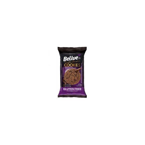 Cookies Double chocolate zero açúcar Belive display 10 x 34g