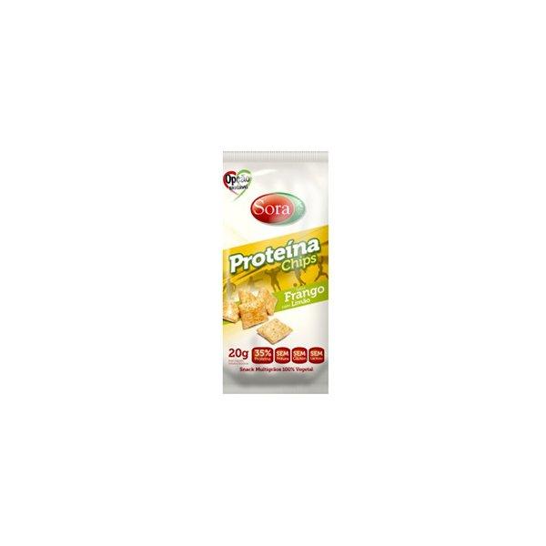 Proteína Chips Sabor Frango com Limão Display 10 x 20g